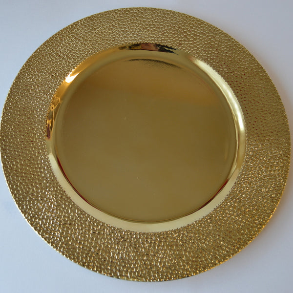Gold Pebbles Charger Plate