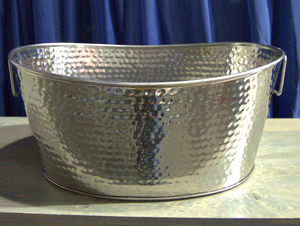 "Stainless Ice Bucket  19"" x 13"" Dimpled"