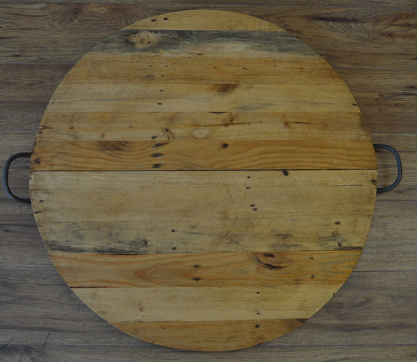 Wooden Platter with handles