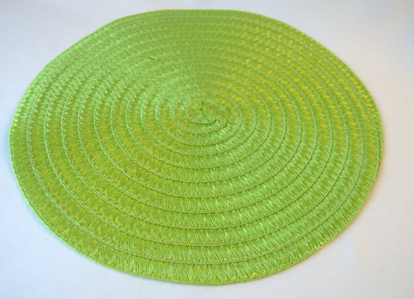 "Apple Green Round 15"" Placemat"