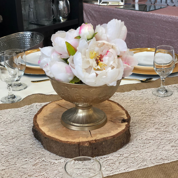 Footed Champagne Gold Vase