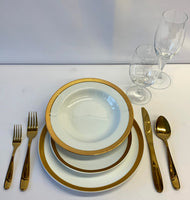 Wide Gold Rim / Classic Gold Dinner Package