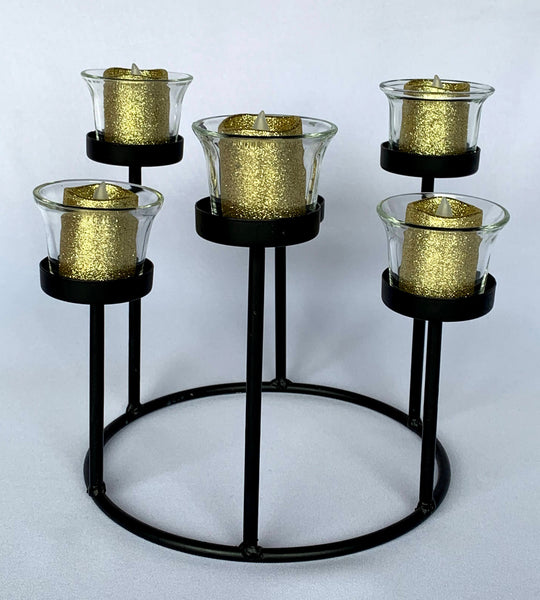 Black fountain  candle holder