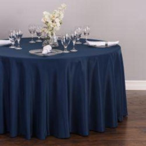 Navy Blue Polyester Tablecloth