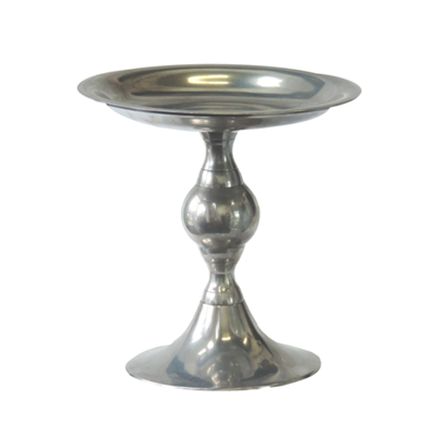 Pedestal Tray Stainless 10""