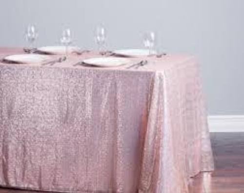 Pink Matte Sequin Box Linen