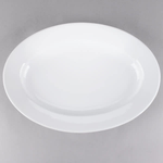 Platter Oval Ceramic White 20""