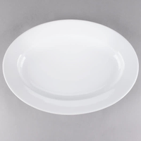 Platter Oval Ceramic White 18""