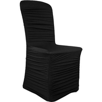 Rouched Black Chair Cover