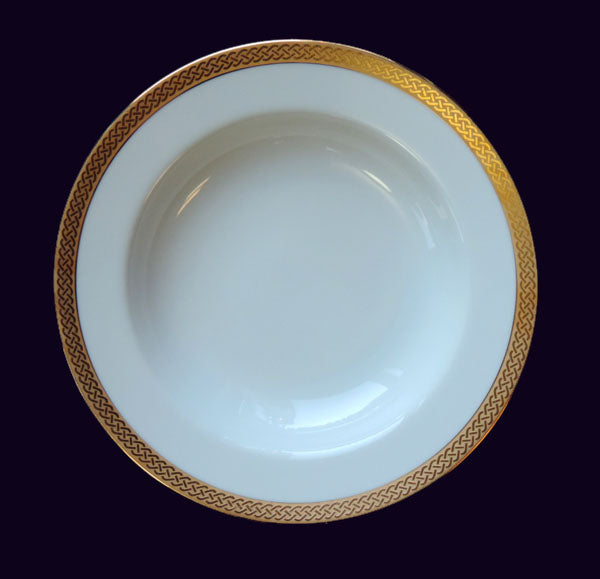 Gold Rim Soup Bowl