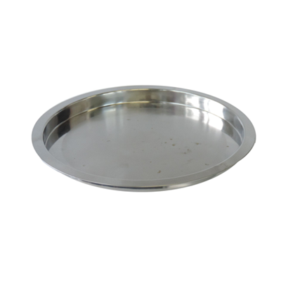 Round Tray Stainless with Rim 14""