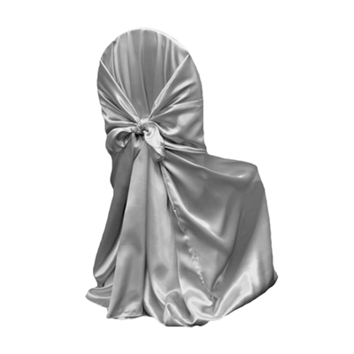 Universal Chair Cover Silver  Must be returned untied
