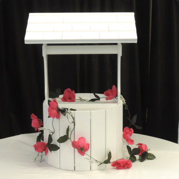 Wedding Wishing Well flowers not included