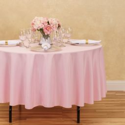 Light Pink Polyester Tablecloth