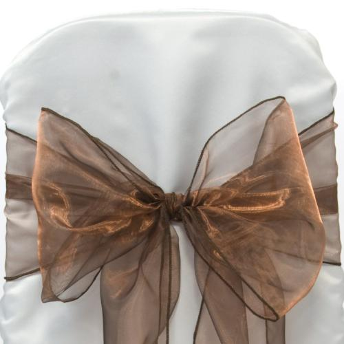 Organza Chocolate Brown Sash