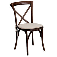 Crossback Vineyard Chair with Ivory Cushion