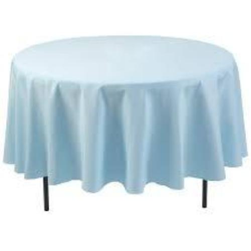 Light Blue Polyester Tablecloth
