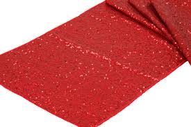 Red Glitz Sequin Runner