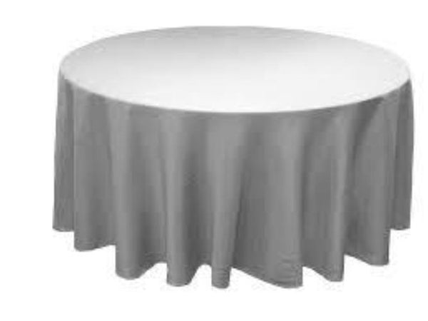 Light Grey Tablecloth 120 round