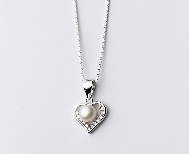 Shelly pearl heart pendant necklace trndz official shelly pearl heart pendant necklace aloadofball Image collections