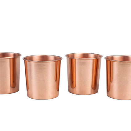 Smooth Copper Tumbler - Set of 4