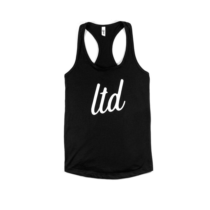 "Ladies ""LTD"" Racerback Tank (Black)"