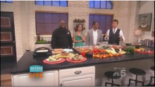 Chef Big Shakes visits Access HollyWood to discuss the signature Shrimp Burger
