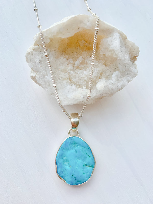 Raw Turquoise Ocean Necklace