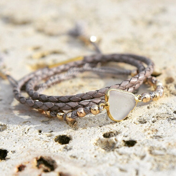 Sea Glass Bracelet Set