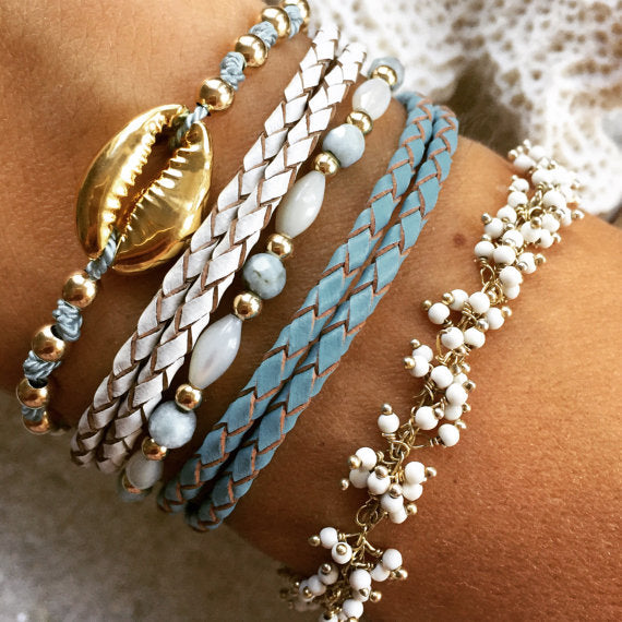 Ocean Breeze Bracelet Set 14k