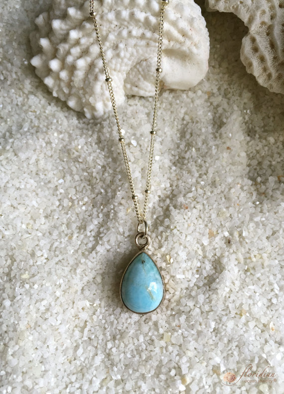 Larimar Ocean Necklace