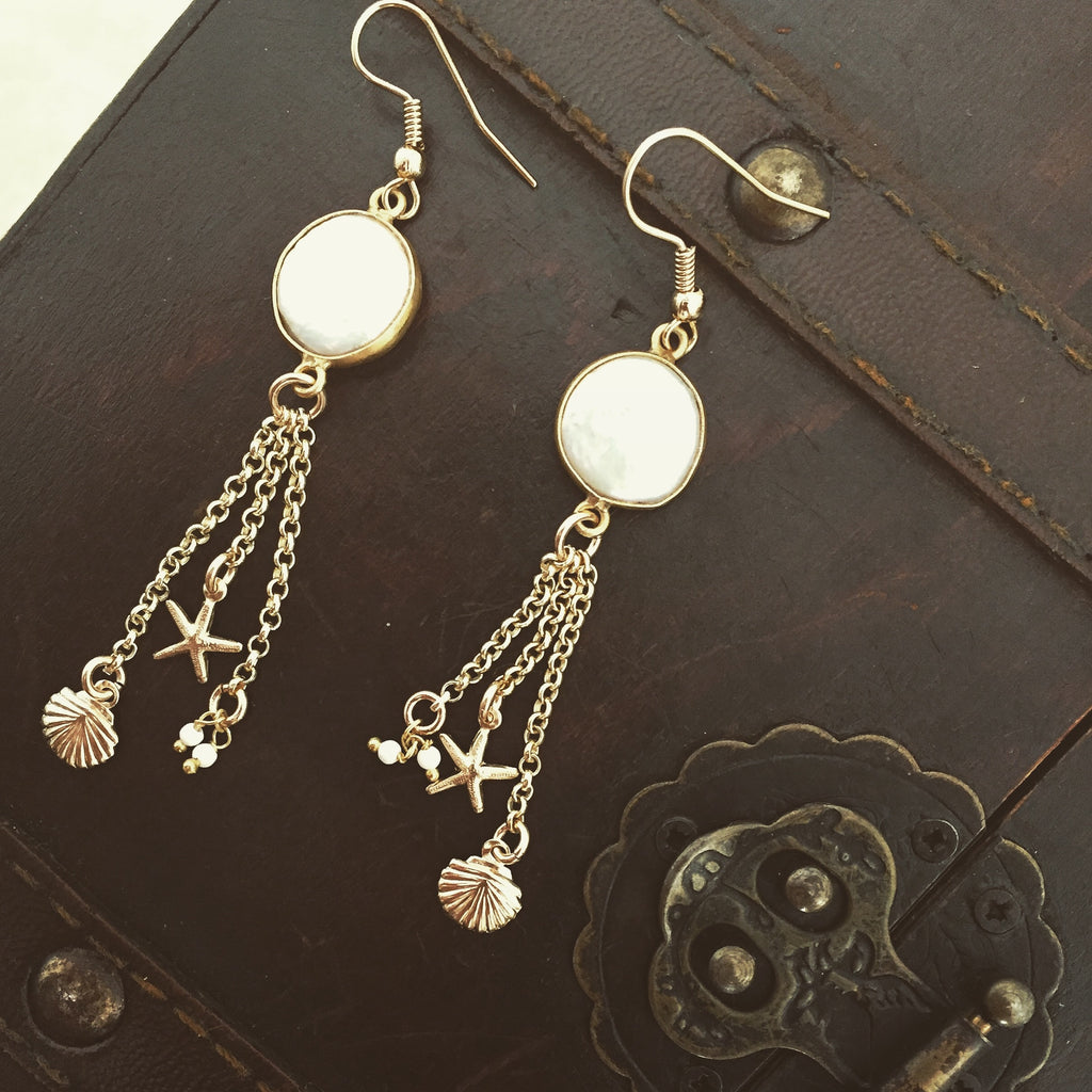 Pearl Earrings 14k