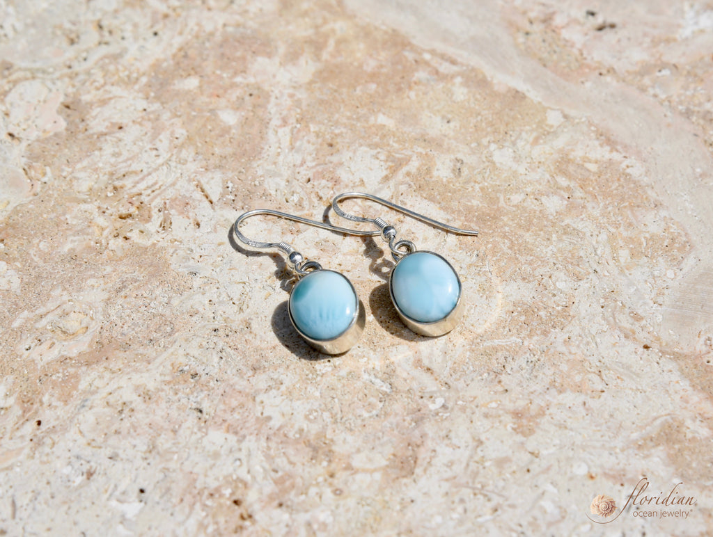 Larimar Ocean Drop Earrings