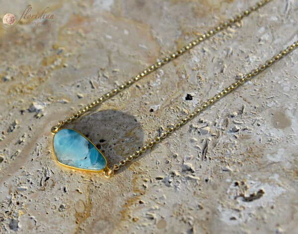 Larimar Ocean Stone Necklace