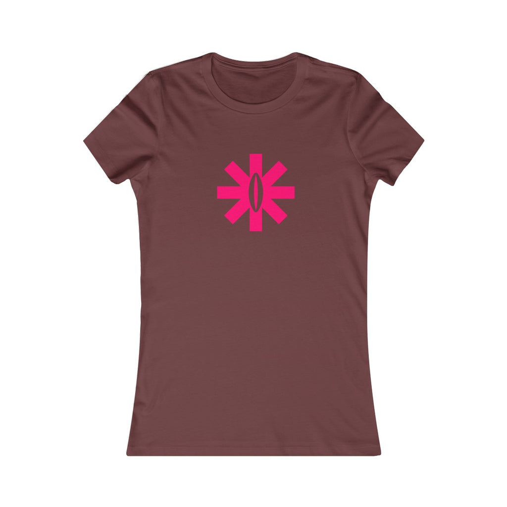 F*Revolution   Women's Slim Fit Tee - Pink P Star Logo