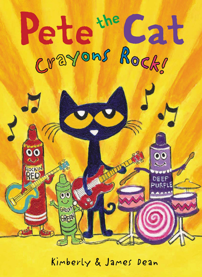 Cover of Pete the Cat: Crayons Rock! Picture Book