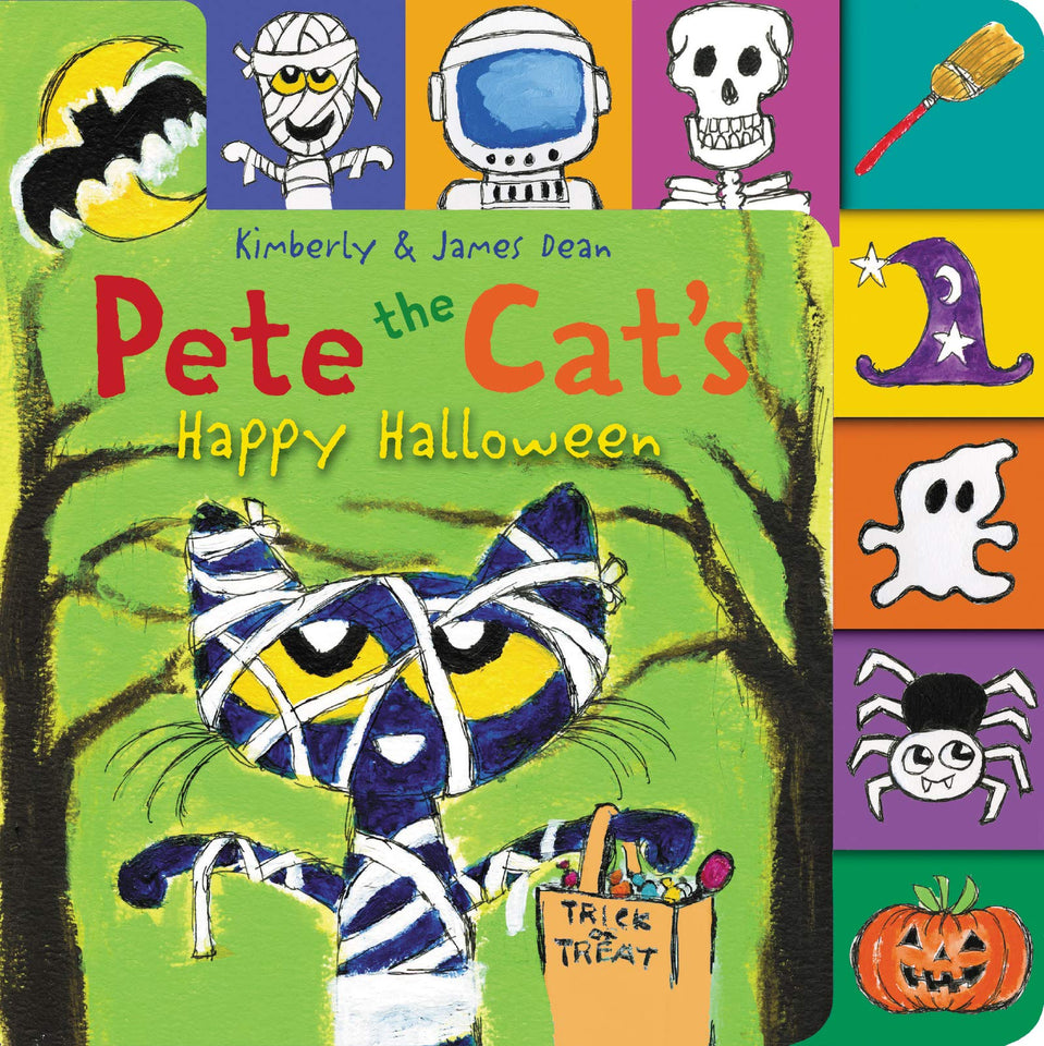 Cover of Pete the Cat's Happy Halloween Board Book