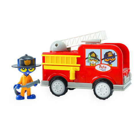 Firefighter Pete the Cat with Fire Truck