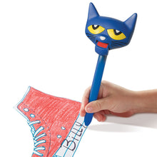 Pete the Cat Puppet on a Pen