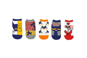 Pete the Cat Kids Socks- 5 Pack Cool Cat Set