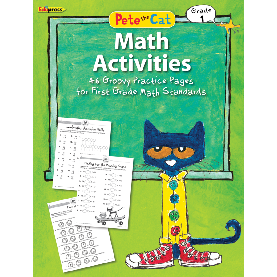 Pete the Cat Math Workbook 1st Grade