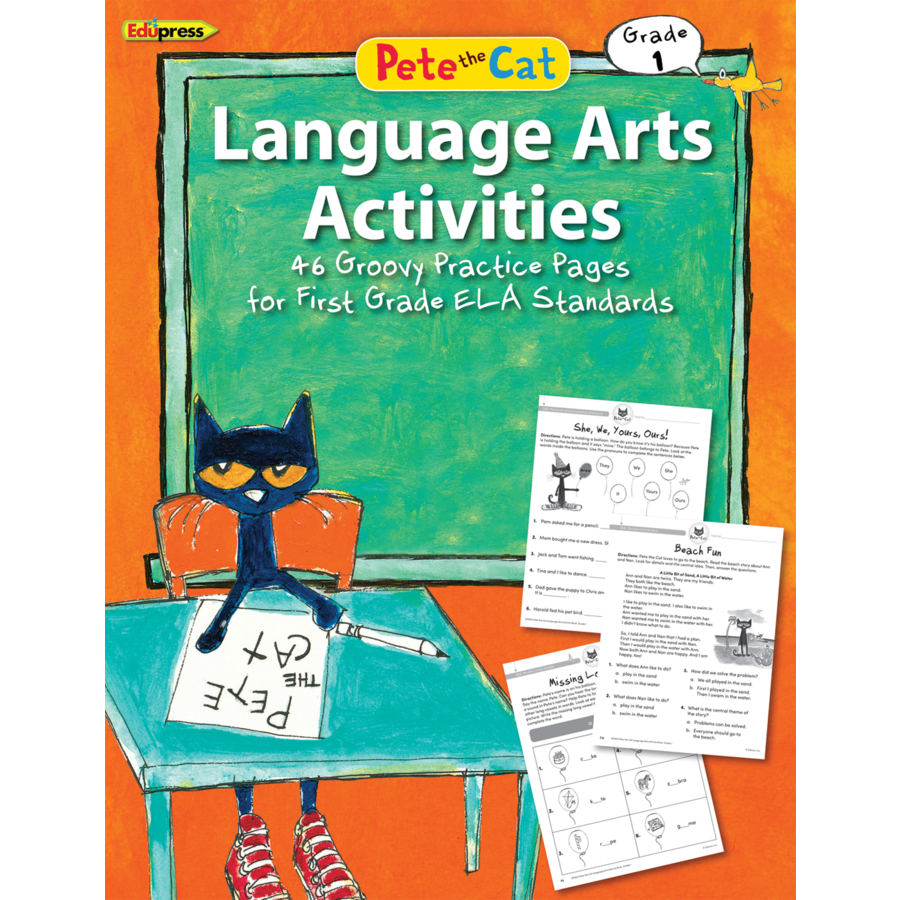 Pete the Cat Language Arts Workbook 1st Grade