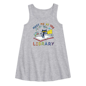 """Meet me at the Library"" Pete Fit and Flare Youth Dress"