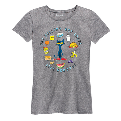 Eat Healthy Buy Local Women's Fit Shirt