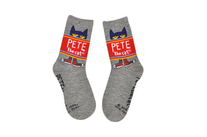 Pete the Cat Kids Banner Crew Socks
