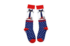 NEW! Pete the Cat Kids Knee-high Polka Dot Socks
