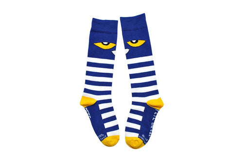 Pete the Cat Kids Knee-high Striped Socks