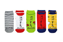 Pete the Cat Adult Socks- 5 Pack Gray Stripe Set