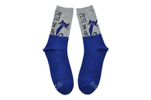 Pete the Cat Blue/Gray Adult Crew Socks