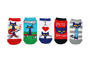 Pete the Cat Kids Socks- 5 Pack Rock On Set